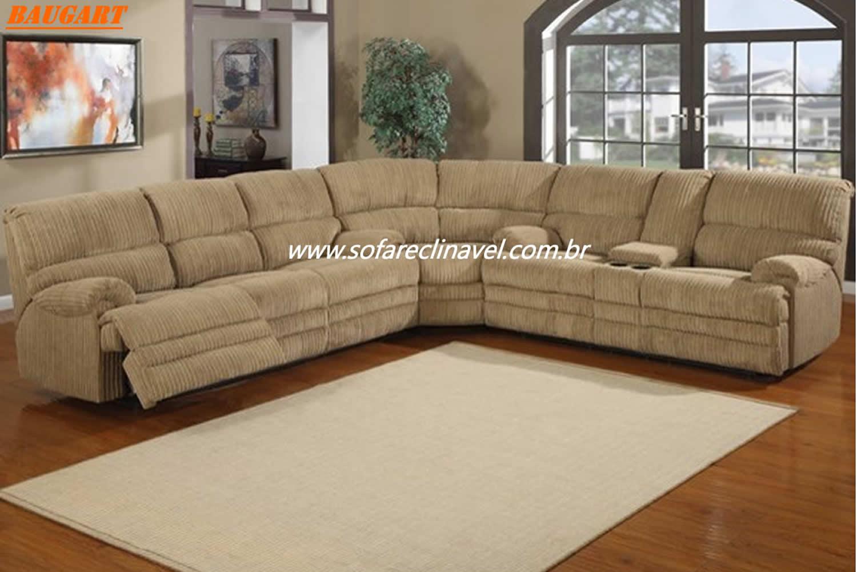 Sof reclin vel de canto conforto e sofistica o em um for Sofas articulados modelos
